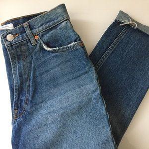 ZARA High Waisted Mom Jeans Size US 2
